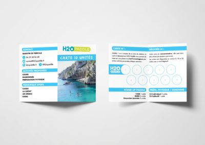 Carte Abonnement H2O Paddle