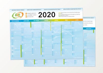 Calendrier 2020 G2E Sud-Est
